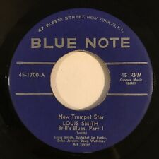 """RARE Louis Smith Brill's Blues Part I & II  7"""" 45 OG 1957 RVG Blue Note Jazz"""