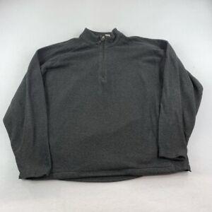 Slazenger Sweater Adult Large Gray Quarter Zip Outdoor Golf Casual Mens