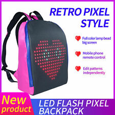 LED Screen Display Smart WIFI Version APP Control Computer Waterproof Backpack
