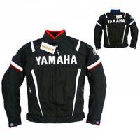 """Yamaha"" Motorbike Motorcycle Cowhide Leather Racing Jackets BLACK BLUE"