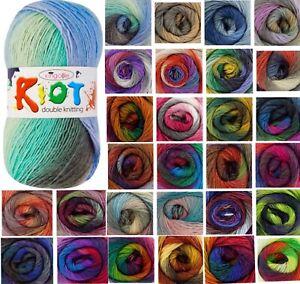 1x King Cole Riot DK 70% Acrylic 30% Wool 100g Crochet and Knitting Yarn