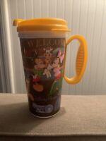 "Disney Parks Tumbler w/ Handle 7"" Tall Mickey, Goofy, Pluto, Donald, Minnie"