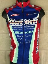 Hincapie Italy Woman XS Red Blue Aarons Full zip Cycling Jersey Maxxis Jaguar