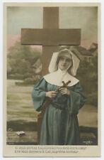 c 1910 French Catholic Glamour BEAUTIFUL NUN Pretty Lady photo postcard