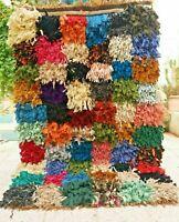 "Vintage Moroccan Rug Handmade Azilal Rug Berber Tribal rug 5'3"" x 3'2"" Free"