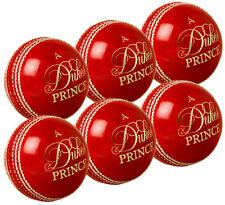 6 x Dukes Prince Match Cricket Balls 5.5oz (156g) Top Grade Quality Leather