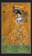 THE LADY IN GOLD ~ KLIMT ~ Gold Metallic ~ Kaufman ~ Wall Hanging ~ Fabric Panel