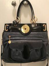 100% Authentic Balenciaga Lune Tote Shoulders Handbag - Blue & Black Brand New