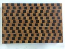 3D End Grain Cutting Board, Handmade with Walnut, Maple and Oak Wood