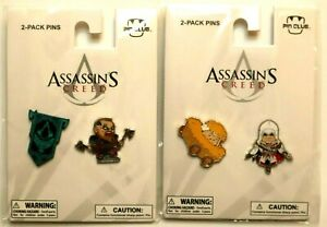 Assassin's Creed Video Game Pin Club Lot 4 AUTHENTIC NEW SEALED RARE Valhalla 3