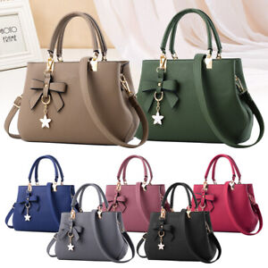 Women's Quality Handbags PU Leather Top Handle Satchel Tote Purse Messenger bags