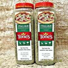 (2) TONE'S ITALIAN SEASONING 6 OZ SHAKER GLUTEN FREE NO MSG