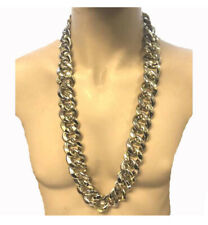 """36"""" Thick Gold and Silver Alternating Chain Necklace Run DMC Hip Hop Rapper Pimp"""