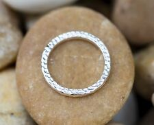 Minimalist Hammered Band 925 Handmade Sterling Silver Ring Size 7