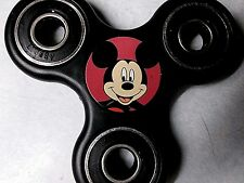 Mickey Mouse Fidget Spinner Black sticker Free Ship USA In Stock Great Gift !!