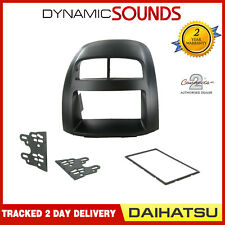 CT23DH02 Black Double Din Car Stereo Fitting Kit Facia For Daihatsu Sirion 05-10