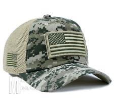 American Flag Tactical Operator Cap Hat 1 ACU Camo Detachable Patch Micro Mesh