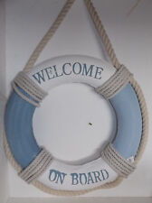 "Rettungsring Wanddeko Türdeko ""WELCOME ON BOARD"" maritime Dekoration 53*53 cm"