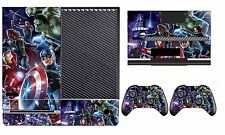 Avengers 260 Vinyl Cover Skin Sticker for Xbox One & Kinect & 2 controller skin