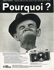 PUBLICITE ADVERTISING 045  1970  ASAHI PENTAX appareil photo SPOTMATIC