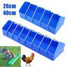 2 Size Storage Poultry Trough Feeder Drinker w/Grill Chicken Bird Hen Pigeon