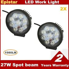 2PCS 27W 12V 24V LED Work Light Spot Light  Boat SUV ATV Offroad Truck 4WD Car