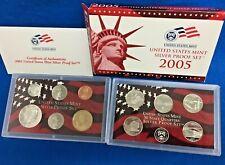 2005 U.S. Silver Proof 10 Coin Set *Mint Condition w/Box + COA