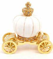 White Gold Royal Crown Jewelry Box Trinket Box Ring Box Home Decoration