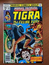 MARVEL PREMIERE #42 VF 1978 EARLY TIGRA SOLO & ORIGIN DAVE COCKRUM