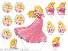 Large +Small Princess Aurora Stand Ups  Cake&Cupcake Fairy Toppers Edible Wafer