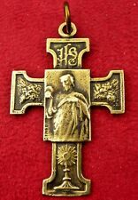 ANTIQUE 1914 JESUS & LOURDES EUCHARISTIC CONGRESS ARTIST LAVRILLIER WWI CROSS
