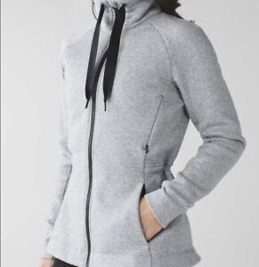 Lululemon &go Take-Off Fleece Jacket Grey Sz 10