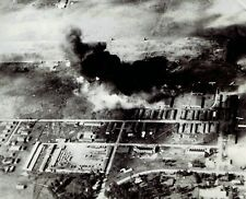 1940 Vintage Photo aerial RAF bombers damage Italy Airfield in Addis Ababa WW2