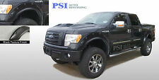 BLACK TEXTURED Pop-Out Rivet Bolt Fender Flares 2009-2014 Ford F-150 Full Set