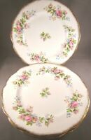 Roslyn Moss Rose Bone China Salad Plates (7.75 In) - Set of 4 - England