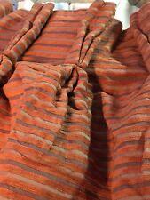 """Vintage à rayures horizontales unique porte drape 46"""" W X 89"""" L absence & Doublé"""