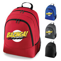Bazinga Big Bang Theory Slogan School Work Backpack Rucksack Bag NEW