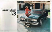1978 GM General Motors Brochure/Catalog;CHEVY,CADILLAC,BUICK,OLDSMOBILE,PONTIAC,