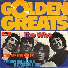 """7"""" Who – I Can See For Miles / Mary Anne With.. / Golden Greats // Germany"""