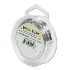Artistic Wire Stainless Steel 26 Gauge 30 yards 41893 Round Shiny