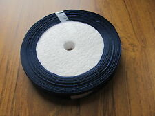 25yds roll 12mm MIDNIGHT BLUE satin ribbon *SECONDS* very good