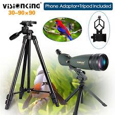 Visionking 30-90x90 Bird Watch Spotting Scope W/ Cell Phone Adaptor Tripod IP 66