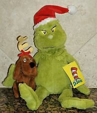"""Dr. Seuss GRINCH MAX DOG Exclusive 15"""" Christmas Plush Barnes Noble Book GIFT"""