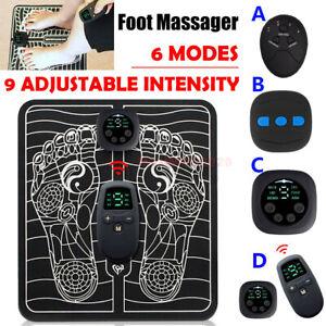 9-Level EMS Electric Foot Massager Pad Blood Circulation Muscle Stimulator Mat