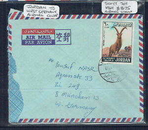 Jordan 1969 Airmail Cover To West Germany - Adressed