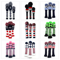 Golf Headcover Pom Pom Woods Headcover 3Pcs/Set Fit Taylormade Callaway Ping New