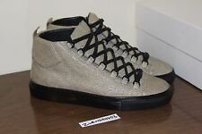 Balenciaga Leather High Arena Stingray Grey Sneaker Size: 41 8 326454 Veau Pelle