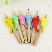 Childrens Pen Corrector- Kids Silicone Writing Dolphin Gripper U5Y9