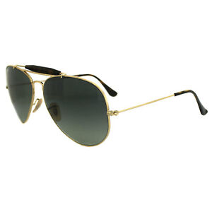 Ray-Ban Sunglasses Outdoorsman Havana 3029 181/71 Gold & Havana Gray Gradient