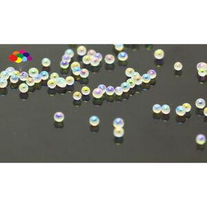 New 1000 pcs Glass White AB Micro Beads small No Hole 1.5-2mm Nail Art Caviar